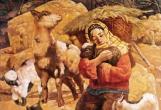 赏析心中满:油画中的羊
