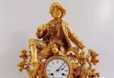 法国原装名钟JAPYFRERES19世纪绅士青铜镀金超大座钟
